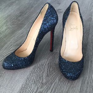 Limited Edition Blue Sparkly Louboutins heels